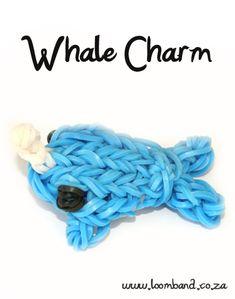 3D whale loomband,http://loomband.co.za/3d-whale-loomband-tutorial/