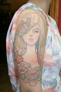 Audrey Kawasaki Tattoo by Ashley Dale Desfosses
