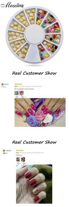 [Visit to Buy] Hot 3d Nail Art Pearl Rhinestones Wheel,5mm Nail Stylish Tool Metal Studs Gems Charm Craft,DIY Manicure Nail Jewelry Decorations #Advertisement