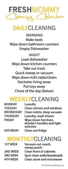 Latest Images The Cleaning Calendar to keep you organized as you clean., – Home Maintenance