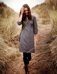 Boden USA Laura Dress - I should wear dresses, leggings and boots more often this fall. So easy!