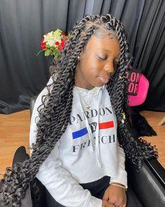 Box Braids Hairstyles, Black Girl Braids, Braided Hairstyles For Black Women, Baddie Hairstyles, Braids For Black Hair, Girls Braids, Fancy Hairstyles, Twist Hairstyles, Wedding Hairstyles