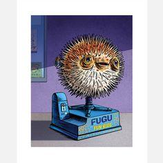 Fugu Fun 8x10, $16.50, now featured on Fab.