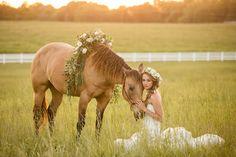 Springfield MO Wedding - Bridal Portraits - Bride with Horse