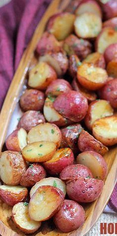 Honey Mustard Roasted Red Potatoes