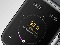 Some interactions for a little radio watch concept. Feel free to check @2x!