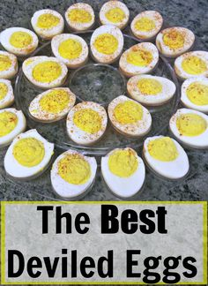 The best deviled eggs recipe!