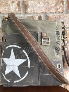 Canvas Crossbody Bag, Crossbody Shoulder Bag, Tote Bag, Army Mom, Military Mom, Army Life, Us Army Logo, Army Tent, Tent Tarp
