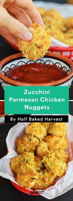 7. Zucchini Parmesan Chicken Nuggets #comfortfood #recipes http://greatist.com/eat/comfort-food-recipes-that-are-healthy