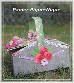 Boite en forme de chapeau tutoriel 10 objets scrapp s pinterest fils - Panier pique nique chic ...