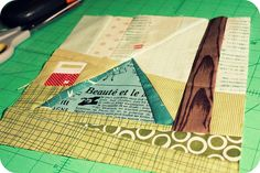 Adorable camping quilt block