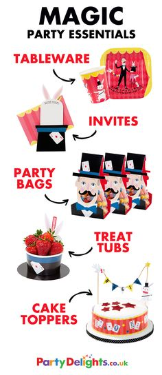 Planning a magic themed birthday party? Here's a round-up of everything you need to make your party extra special, including magic party invitations, a magic birthday cake, magic party bags and more! Head over to partydelights.co.uk to pick up everything you need.