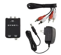 Connect audio devices with digital audio outputs to devices with analog audio inputs with this DynexTM DX-SF110 converter, #which offers PCM stereo support for h...