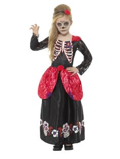 Kids Fancy Book Day Halloween Dress Party Day Of The Dead Girl Complete Costume Childrens Halloween Costumes, Halloween Dress, Halloween Kids, Halloween Party, Halloween College, Children Costumes, Halloween Celebration, Halloween Horror, Halloween Makeup