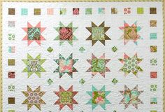 Here's the completed Hushabye stars quilt. I want to give it to it's new owner tomorrow, but have to come up with a name first, so I can la...