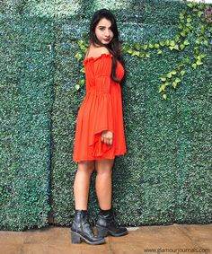 How to style off-shoulder dress - Street Style India