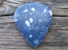 Handcrafted Guitar Pick Blue Granite Corian by sherrillwoodworking, $5.00