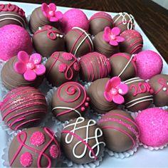 Pink and Brown Cake Balls