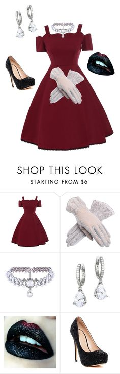 """""""Princess"""" by peytonshae ❤ liked on Polyvore featuring WithChic, Kate Spade and Lauren Lorraine"""