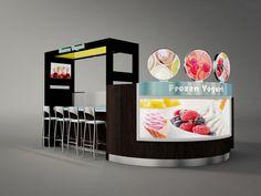 meter coffee kiosk, cafe station design with led lights and coffee makers for sale Kiosk Design, Cafe Design, Booth Design, Retail Design, Store Design, Backdrop Design, Juice Bar Design, Food Cart Design, Mall Kiosk