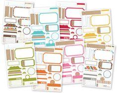 SN@P! Ensembles d'étiquettes adhésives - lot de 8