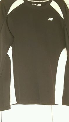 New Balance Men's long  Sleeve Athletic Shirt Size Large euc black/white #NewBalance #ShirtsTops