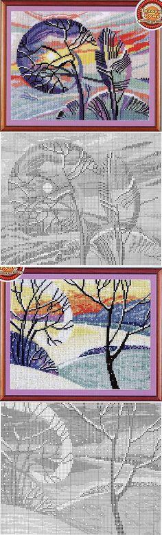 Вышивка крестиком - Пейзажи (абстракция)