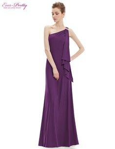 Gorgeous Fashion One Shoulder Diamantes Long Evening Dress