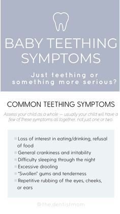 Your baby can often be cranky and irritable during teething. Learn how to identify common symptoms of teething and when there could be a more serious problem. #teething #babytips #dentalhealthforkids Baby Teething Symptoms, Teething Relief, Toddler Meals, Dental Health, Baby Hacks, New Parents, Bloom, Learning, Oral Health