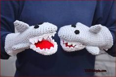 Crochet Tutorial: Great White Shark Hand Puppet « YARNutopia by Nadia Fuad