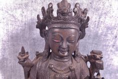 Possible Qing dynasty. The x 4 Buddha Figures, Qing Dynasty, Buddhism, Chinese, Bronze, Statue, Antiques, Vintage, Art