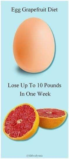 Grapefruit and egg diet is a popular diet, where you can lose upto 10 pounds in 3 days. It is a hybrid of Grapefruit diet and egg diet. Quick Weight Loss Tips, Diet Plans To Lose Weight, How To Lose Weight Fast, Losing Weight, Loose Weight, Reduce Weight, Body Weight, Weight Gain, Water Weight