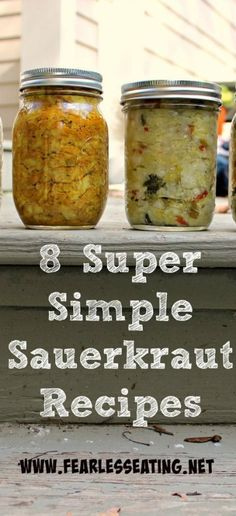 When I came home with 10 lbs of cabbage I wanted to make as many sauerkraut recipes as I could without going to the supermarket. Here are my results.