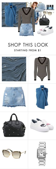 """DENIM ON DENIM"" by blogdisilvia on Polyvore featuring Veronica Beard, Steve J & Yoni P, A.F. Vandevorst, Givenchy, Chiara Ferragni, Miu Miu, Cartier and SO"