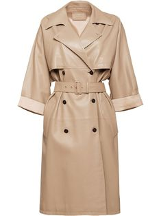 Prada, Mantel Outfit, Double Breasted Trench Coat, Coat Dress, Fashion Outfits, Womens Fashion, Fashion Coat, Coats For Women, Winter Outfits