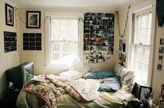 just another tumblr bedroom that looks perfectly unkept