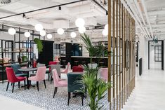 Inside Solutions Rent's Warsaw Coworking Space - Officelovin' Space Interiors, Office Interiors, Student Lounge, Workspace Design, Lounge Decor, Co Working, Library Design, Coworking Space, Hospitality Design