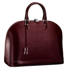 LOVE: Louis Vuitton Alma Epi Prune Electric(beautiful color)!