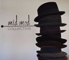 Cavanaugh, Lock & Company, Herbert Johnson, Biltmore fedoras. Available now at Mid Mod Collective. Email midmodcollective@gmail.com for more info.