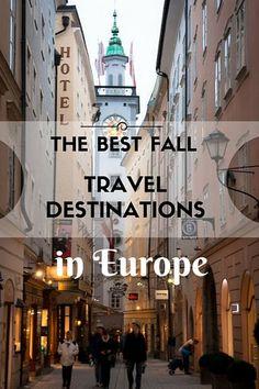 Los mejores destinos para visitar en Europa durante el otoño.