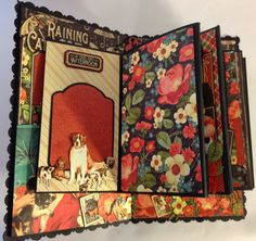 Graphic 45 Raining Cats and Dogs Roof mini album for the dog house by Anne Rostad