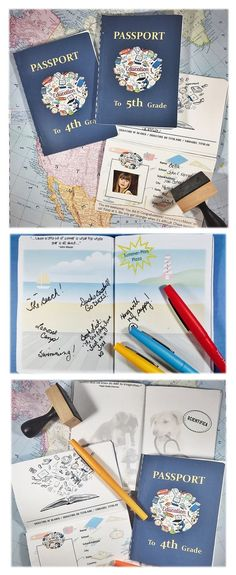 """END OF YEAR   MEMORY BOOK """"And the next leg of your journey is to...the next grade!"""" These end of the year memory books are so cool!"""