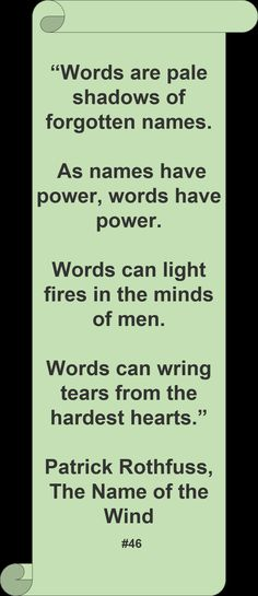 ♥ Patrick Rothfuss ♥ #Quote #Author #Words
