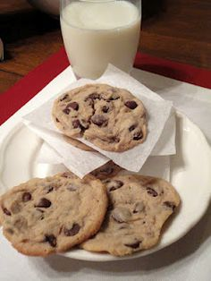 Chocolate chip Cookies with cream cheese... this makes them extra moist and delicious!