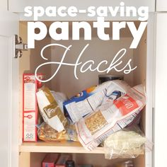 Pantry Organizing Hacks | Feel like your pantry could use a good spring cleaning? Here's how to revamp any food storage space, big or small. #pantryorganization #organization #organizingtips #realsimple Organisation Hacks, Organizing Hacks, Diy Hacks, Ikea Hacks, Kitchen Organization Pantry, Small Space Organization, Diy Kitchen Storage, Bathroom Organization, Organized Pantry