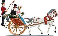 Kutsche mit Brautpaar | Wilhelm-Schweizer Zinnfiguren