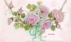 Romantic Rose Paintings and Cherubs Art by Catherine Risi