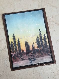 """Card made with Fun Stampers Journey (FSJ) """"Stay Wild"""" ATS stamp, and """"Text Happy"""" stamp set, and Pan Pastels blended to create the background and foreground."""