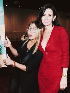 """Jennifer Aniston and director Courteney Cox attend the Los Angeles Special Screening of """"Just Before I Go"""" at ArcLight Hollywood on April 20, 2015 in Hollywood, California."""
