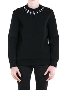 NEIL BARRETT Neil Barrett Lightening Bolt Sweatshirt. #neilbarrett #cloth #https: